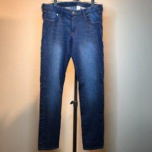 "32"" Inseam Stretchy Dark Wash Skinny Jeans"